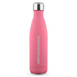 Roze Soft VERPLEEGKUNDIGE. Thermosfles Krijt