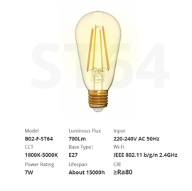 Sonoff   B02 F-ST64   LED à filament dimmable   E27
