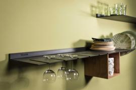 Wandplank voor borden & glazen