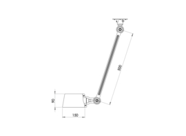 Tonone BOLT CIELING LAMP - SINGLE ARM SIDEFIT vele kleuren)