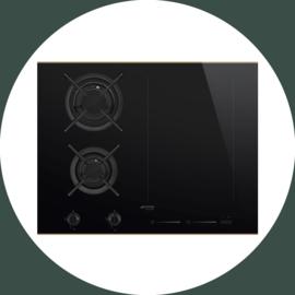 Smeg DSN Combi gas / inductie kookplaat