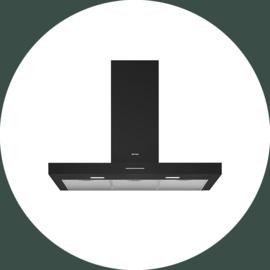 Afzuigkap universeel strak 90 cm in zwart