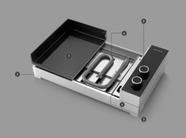 Forge Adour PLANCHA Premium ELEKTRISCH 60 cm