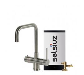 Selsiuz Kokendwaterset met kraan haaks inox (combi boiler)