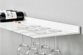 Wandplank voor glazen