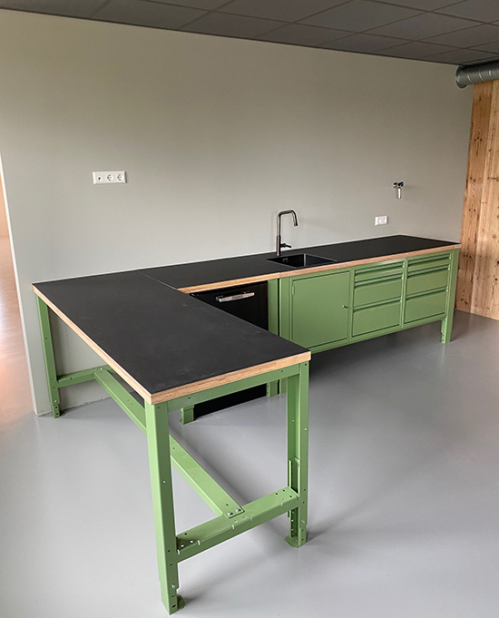 the big easy module keuken kantine groen