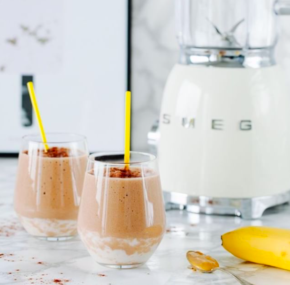 recept banaan chocolade frappucino big easy kitchen
