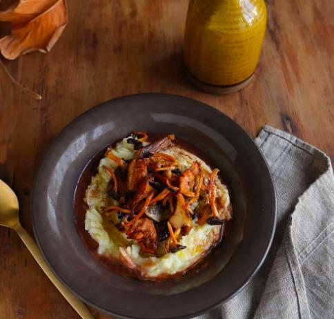 recept aardappelcreme paddenstoelen