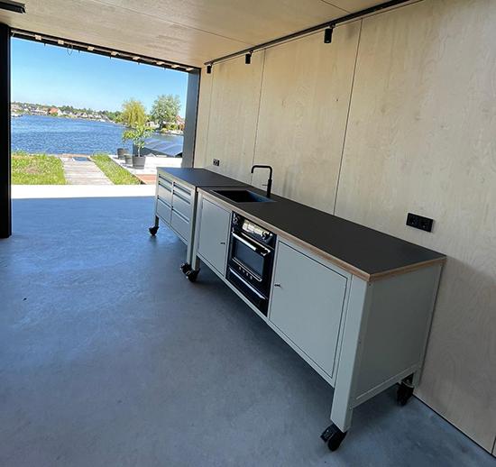 the big easy kitchen modulair op wielen