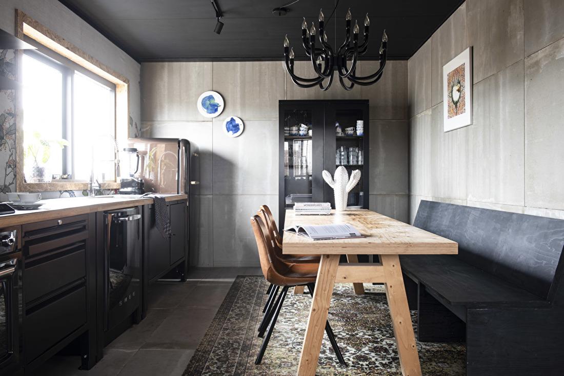 big easy industriele zwarte keuken module