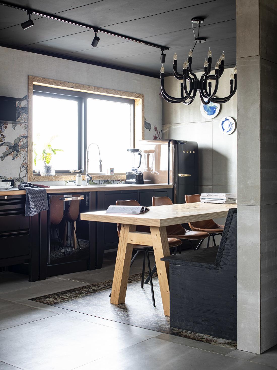 big easy kitchen zwart smeg