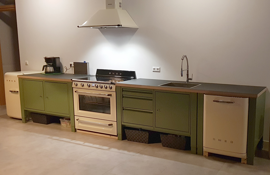 the big easy modular kitchen green