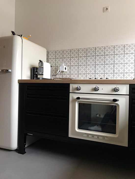 big easy modulekeuken stalen keuken keukenblok smeg
