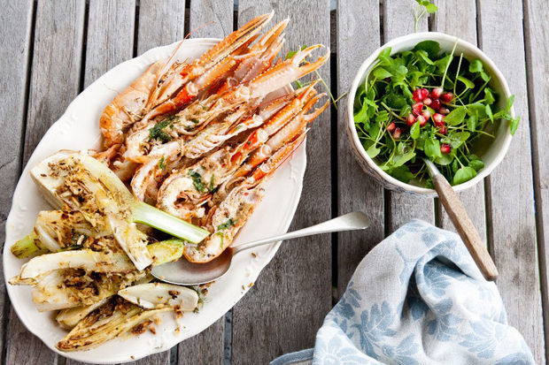 recept plancha langoustines the big easy buitenkeuken