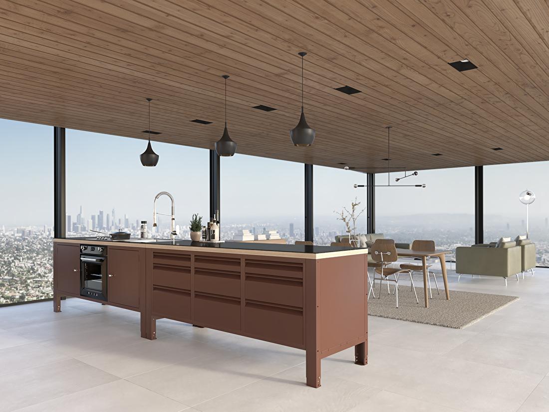 the big easy module werkbank industrieel keuken bruin