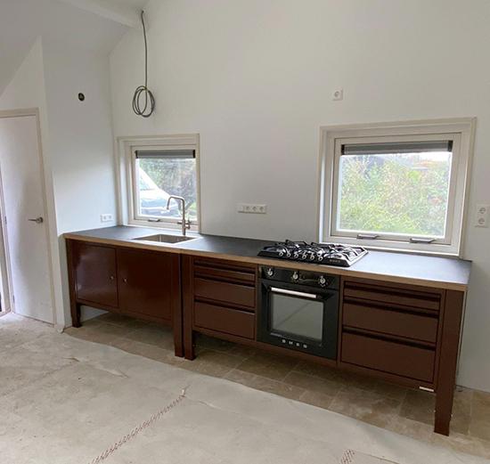 the big easy vrijstaande keuken bruin module