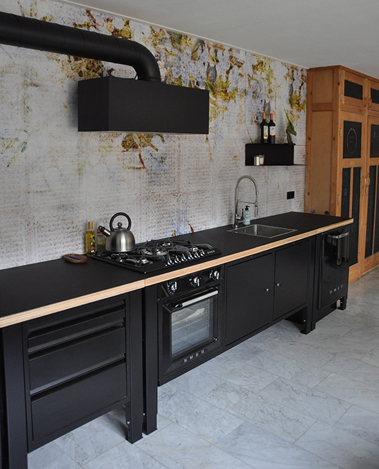 the big easy modular kitchen industrial black