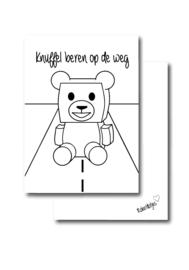 Knuffel beren op de weg