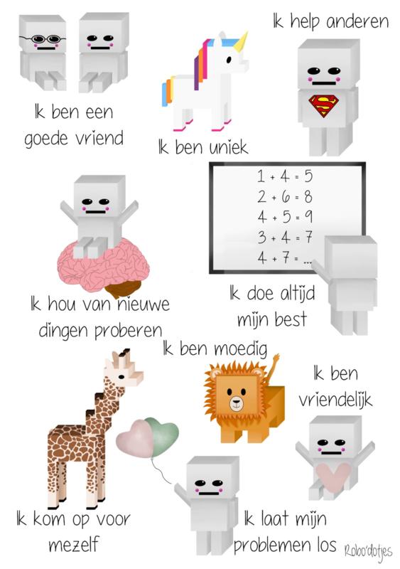 Poster affirmaties voor kinderen