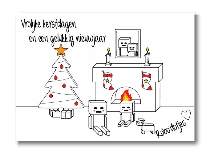 Kerstscène kerstkaart