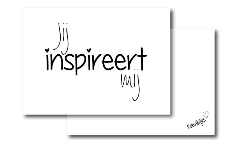 Jij inspireert mij