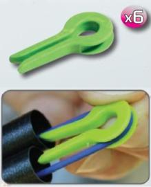 Fun fishing elastiek beschermer 6 stuks