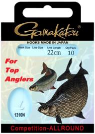 Gamakatsu competition-allround onderlijnen  22cm 10st