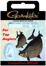 Gamakatsu competition-bream onderlijnen  22cm 10st