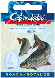 Gamakatsu roach onderlijnen  45cm 10st