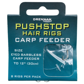 Drennan carp feeder pushstop hair rigs 30cm 8st