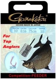 Gamakatsu competition-feeder onderlijnen  75cm 10st