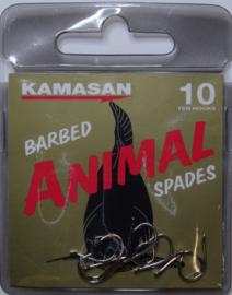 Kamasan Animal spades  barbed 10st haken