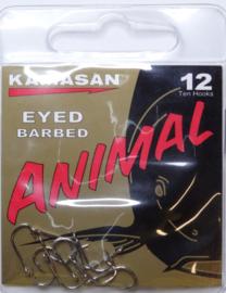 Kamasan Animal eyed barbed 10st haken