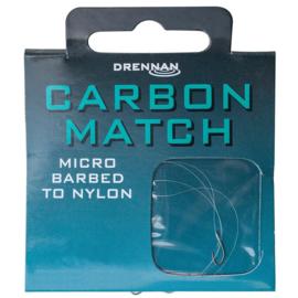 Drennan carbon match onderlijn 16 - 0,12mm - 1,13kg - 35cm 8st