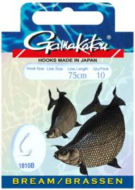 Gamakatsu bream onderlijnen  75cm 10st