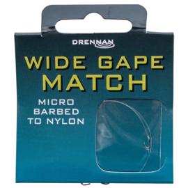 Drennan wide gape match onderlijn 16 - 0,13mm - 1,36kg - 35cm 8st