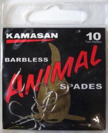 Kamasan Animal spades  barbless 10st haken