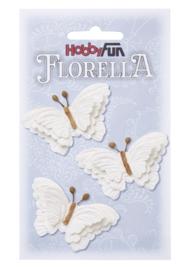 Papieren Vlinders Wit 6cm