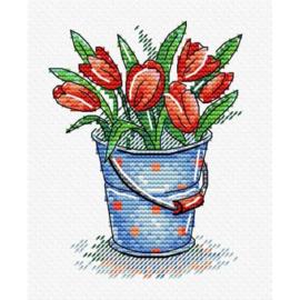 Borduurpakket Tulip Freshness - Mp Studia