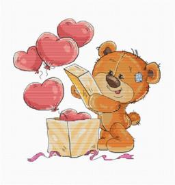 Borduurpakket Teddy Bear Opening Box - Luca S