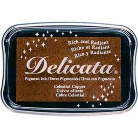 Delicata inktkussen Metallic Celestial copper