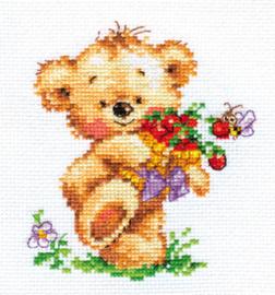 Borduurpakket Sweet tooth Teddy Bear - Alisa