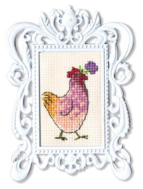 Borduurpakket Framed Art - Chicken