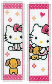 Bladwijzer kit Hello Kitty met hondje set van 2