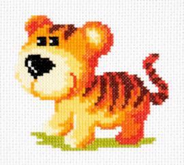 Borduurpakket Tiger cub - Chudo Igla