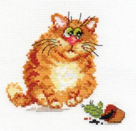 Borduurpakket Mischievous cat - Alisa