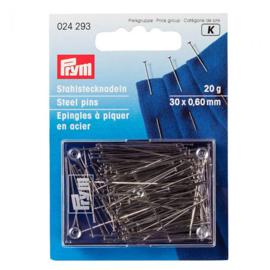 Prym Spelden Staal 0.60x30mm Zilver - Met Kop