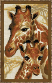 Borduurpakket Giraffes - Riolis