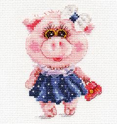 Borduurpakket Piggy Tosya - Alisa