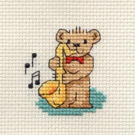 Borduurpakket Saxophone Teddy - Mouseloft